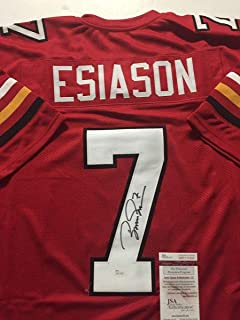 Autographed/Signed Boomer Esiason Maryland Red College Football Jersey JSA COA