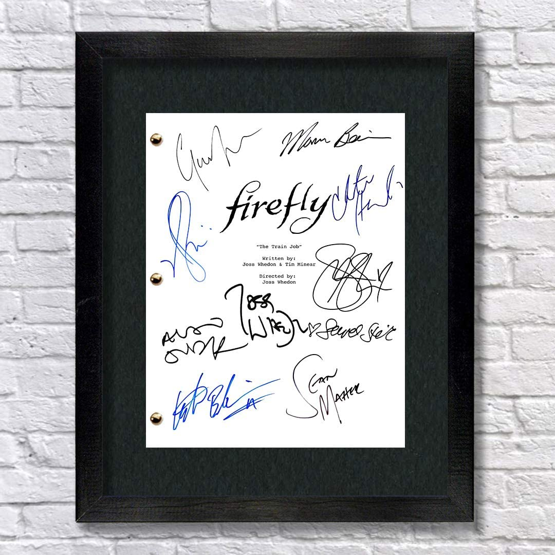 Raleigh Mall Firefly TV Cast Autographed Signed Reprint Framed Phoenix Mall 8.5x11 Script