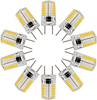 ZHENMING G8 LED Light Bulbs Bin-pin Base Puck Light T5 JCD Type 3W(30W Halogen Equivalent) 350 Lumens 110V-130V Warm White 3000K for Light Fitting, Under Counter Kitchen Lighting (Pack of 10)