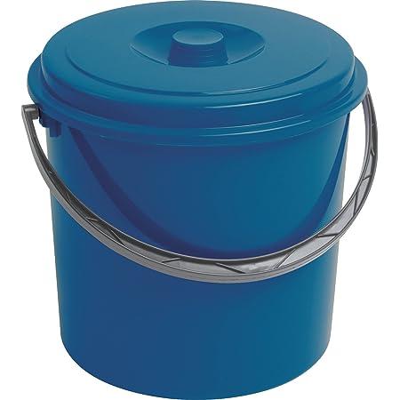 Curver Seau de 12 l avec couvercle bleu.