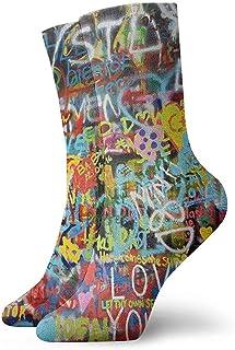 Dydan Tne, Calcetines de Arte de Pared para niños, niñas, Locos, Divertidos y Divertidos