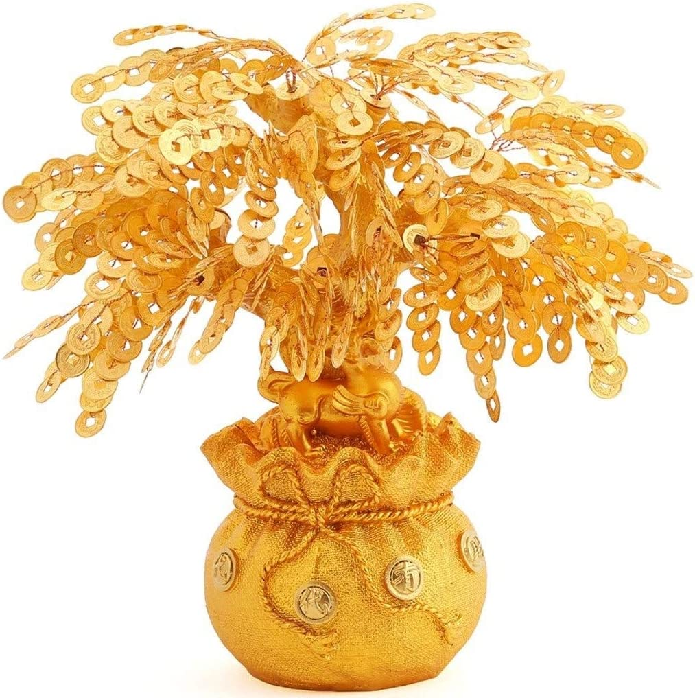 Fengshop Tulsa Mall Piggy A surprise price is realized Bank Creative Gold-Plated C Tree Money