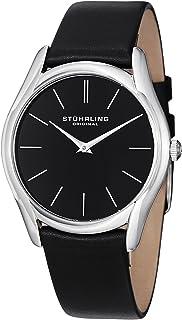 Stuhrling Original Men's 434.33151 Symphony Swiss Quartz Black Genuine Leather Strap Watch