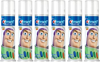 Crest Kid's Cavity Protection Toothpaste Pump Featuring Disney Pixar's Toy Story, Blue Bubblegum, Ages 3+, 4.2 Ounce, Pack of 6