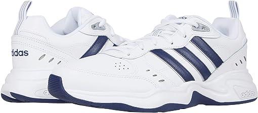 Footwear White/Dark Blue/Matte Silver