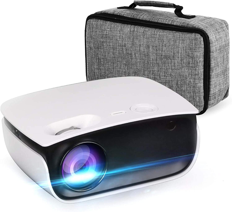 Max 72% OFF Oecrayy Mini Projector wholesale Video 5500 Nat Lumens Full HD