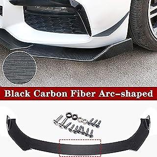 Fiber Texture/Black 3Piece Universal Car Front Bumper Lip Chin Bumper Body Kits Splitter Car Universal Modification