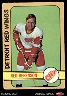 1972 O-Pee-Chee # 123 Red Berenson Red Wings (Hockey Card) Dean's Cards 2 - GOOD Red Wings