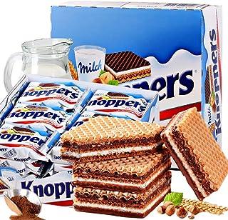 德国原装进口Knoppers威化饼干牛奶榛子巧克力五层夹心饼干25g*24包