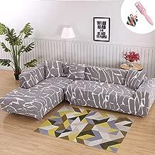 Funda Sofá de 3 plazas Universal Estiramiento, Morbuy Moderno Cubierta de Sofá Cubre Sofá Funda Furniture Protector Antideslizante Elastic Soft Sofa Couch Cover (4 plazas,Canica Gris)