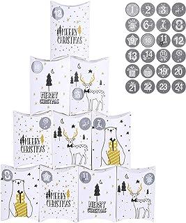 comprar comparacion FORMIZON 24 Cajas de Regalo Navidad, Bolsa para Calendario de Adviento, Navidad Bolsas de Regalo con 24 Pegatinas para Nav...