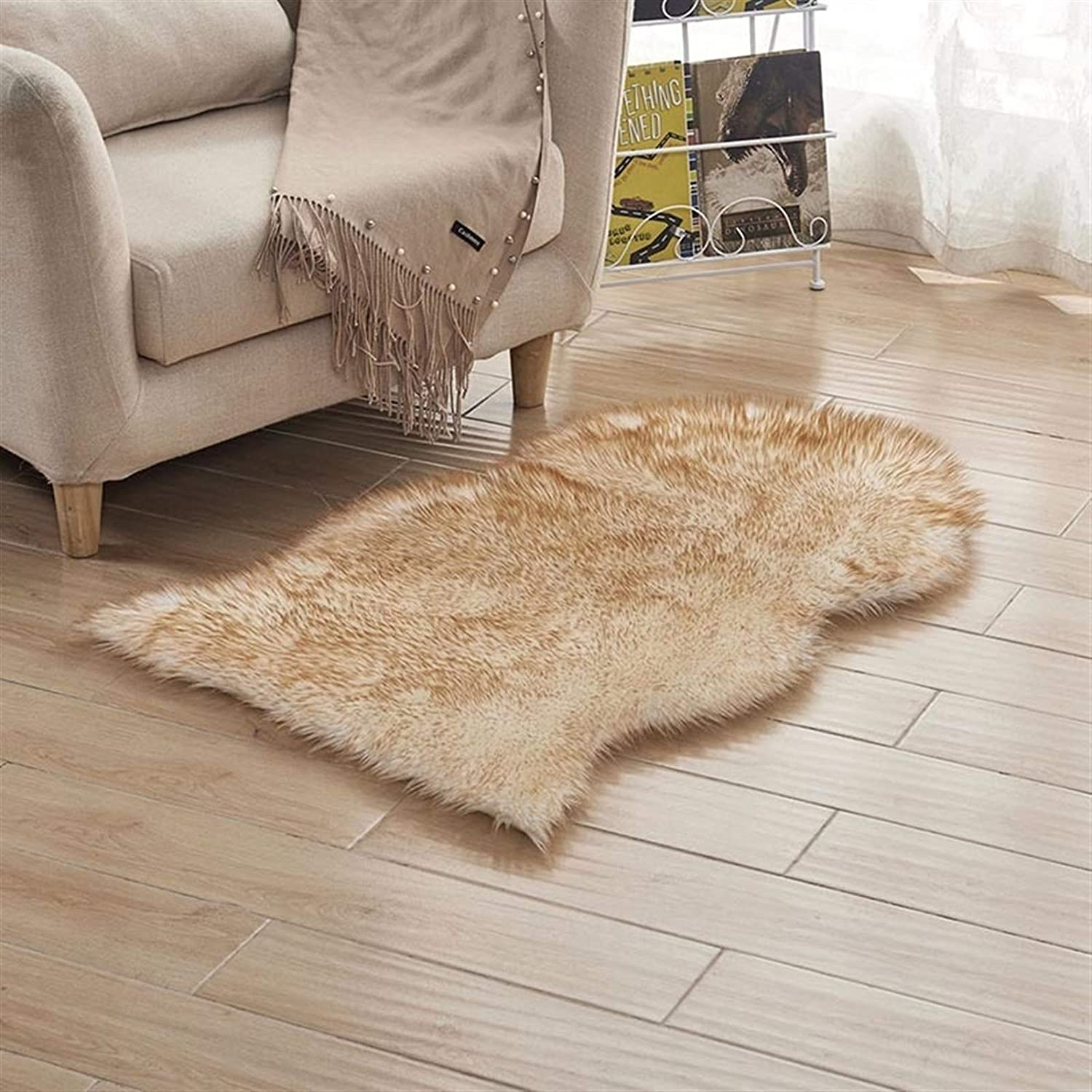 SHENYF-Hua High order Soft Faux Sheepskin Chair Popular shop is the lowest price challenge Seat Shaggy Pad Plain Cover