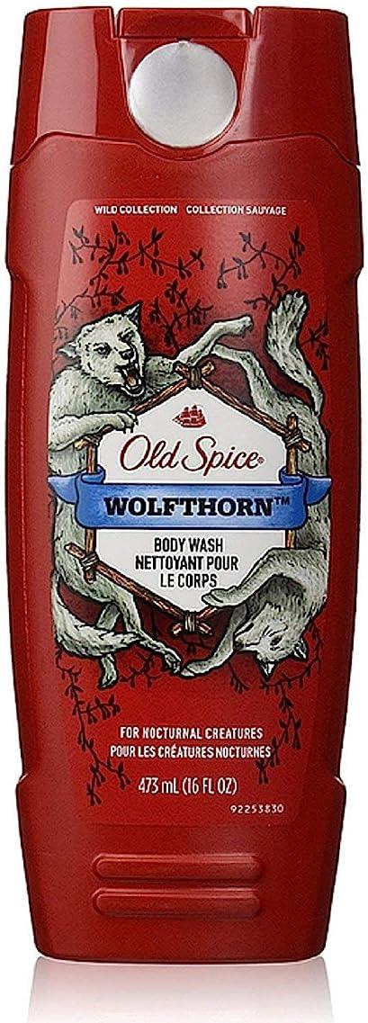 刺しますホールドトラックOld Spice ワイルドコレクションボディウォッシュ、Wolfthorn 16オズ(5パック) 5パック