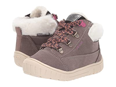 Geox Kids Omar Waterproof 1 (Toddler) (Smoke Grey) Girls Shoes
