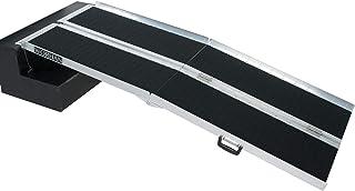 WORHAN® 1.83m Rampa Plegable Carga Silla de Ruedas Discapacitado Movilidad Aluminio Anodizado Model