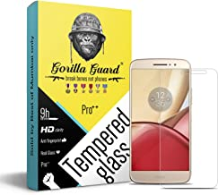 Gorilla guard's HD+ Clear Tempered Glass Screen Protector for Motorola M 5.5inch (Pro Series) 8H Hardness, oleophobic, UV ...