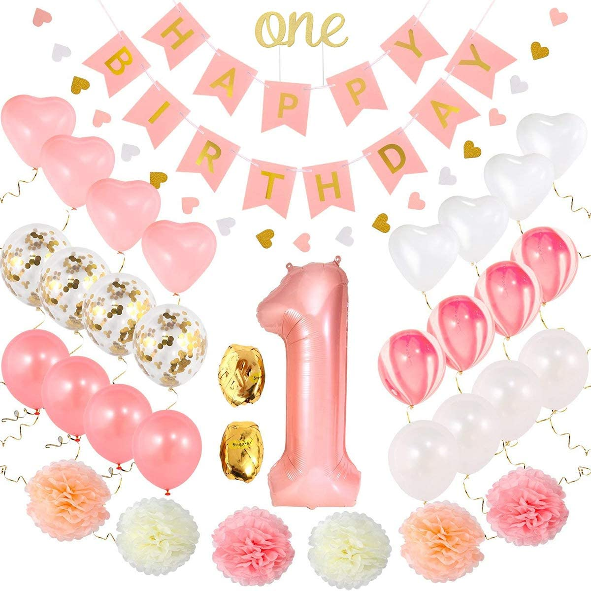 1st Gorgeous Birthday Ranking TOP19 Girl Decorations Decorat Baby First