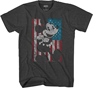 Disney T Shirt Mickey Mouse Tee American Flag Classic Vintage Retro Distressed