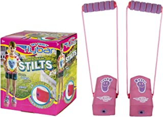 Flybar My First Kids Stilts for Ages 3 & Up, Soft and Safe Foam Pogo Steppers Squeak with Each Step – Foam Hand Grips with Sturdy Rope Handles