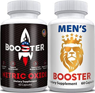 Horny Goat Weed Extract & Nitric Oxide Pills- Male Test Booster Supplements Complex, Natural Powerful Performance & Endura...
