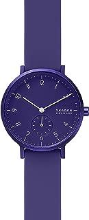 Skagen SKW2802 Aaren - Reloj de cuarzo para mujer con correa de silicona, color morado