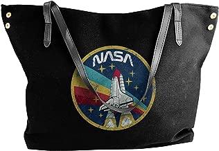 Women's Canvas Shoulder Bag Nasa Vintage Portable Big Bag Tote Handbag Work Bag