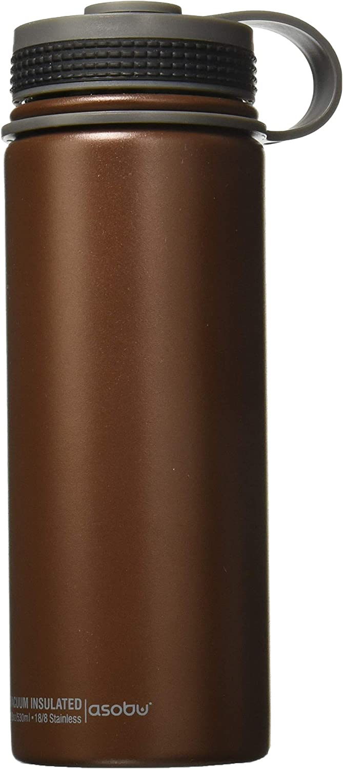 Asobu Alpine Flask Stainless Steel Insulated Thermos Water Bottle Beer Growler 18oz 100% BPA
