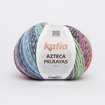 Katia Azteca milr Ayas – Color: vivos (704) – 100 g/aprox. 180 m lana: Amazon.es: Hogar