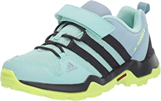 adidas outdoor Terrex AX2R CF Kids Hiking Shoe Boot, Clear Mint/Carbon/hi-res Yellow, 5 Child US Big