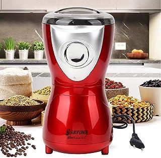 Elektrisk kaffekvarn, kaffekvarn maskin kaffebönor manuell spannmålsbrytare verktyg med blad av rostfritt stål för spannmå...