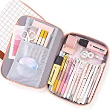 Aineeba Big Capacity Pencil Pen Case Pouch Box Organizer Large Storage for Bullet Journal (White)