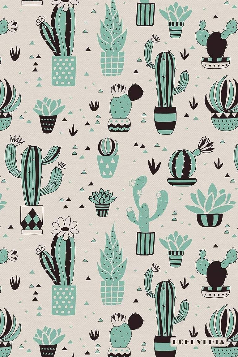 火傷しばしば君主Echeveria: Evergreen Perennial Succulent Cactus Plant Bullet Journal Dot Grid BuJo Daily Planner