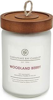 Chesapeake Bay Candle Heritage Scented, Woodland Berry, Large Jar, White