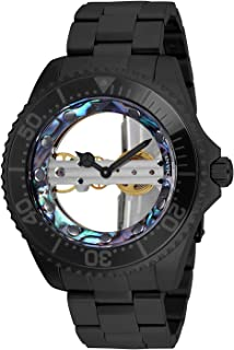 Invicta Women's Pro Diver Mechanical Watch with Stainless Steel Strap, Black, 22 (Model: 26411)