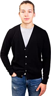 Citizen Cashmere Long Sleeve V-Neck Men's Cardigan - 100% Pure Cashmere (Luxurious, Soft & Warm)