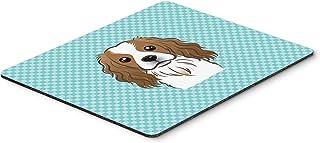 Caroline's Treasures Checkerboard Blue Cavalier Spaniel Mouse Pad/Hot Pad/Trivet (BB1162MP)