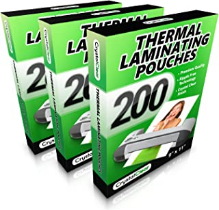 3 PACK - Thermal Laminating Pouches - (200 PACK - Get 2x More Sheets!) - Fits 8.5 x 11 Letter Size Paper - Universal Compatible with all Hot Laminator Machines - 3 Mil