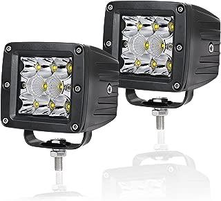 LED Cube Lights Swatow Industries 2PCS 80W Osram 3 Inch LED Pod Lights Off Road Spot Flood Combo Driving Lights Fog Lights Square Work Lights for Truck Offroad SUV ATV UTV Boat - 2 Yr Warranty
