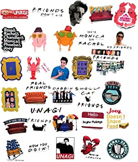 Friends Tv Show Sticker Pack, for Laptop Phone Luggage Computer Mug Notebook Home Wall Snowboard MacBook [Non-Reflective, Waterproof, Sunproof] [34pcs]