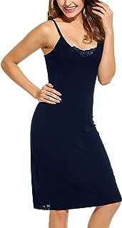 Women's Full Slips Whole Slips Under Adjustable Spaghetti Strap Cami Mini Dress S-XXL