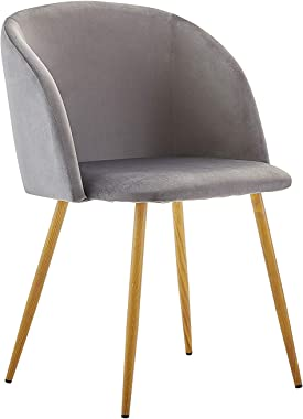 Dorafair Upholstered Dining Chairs Velvet Armchair Mid Century Modern Chairs Living Room Chair Makeup Chair Side Chairs with