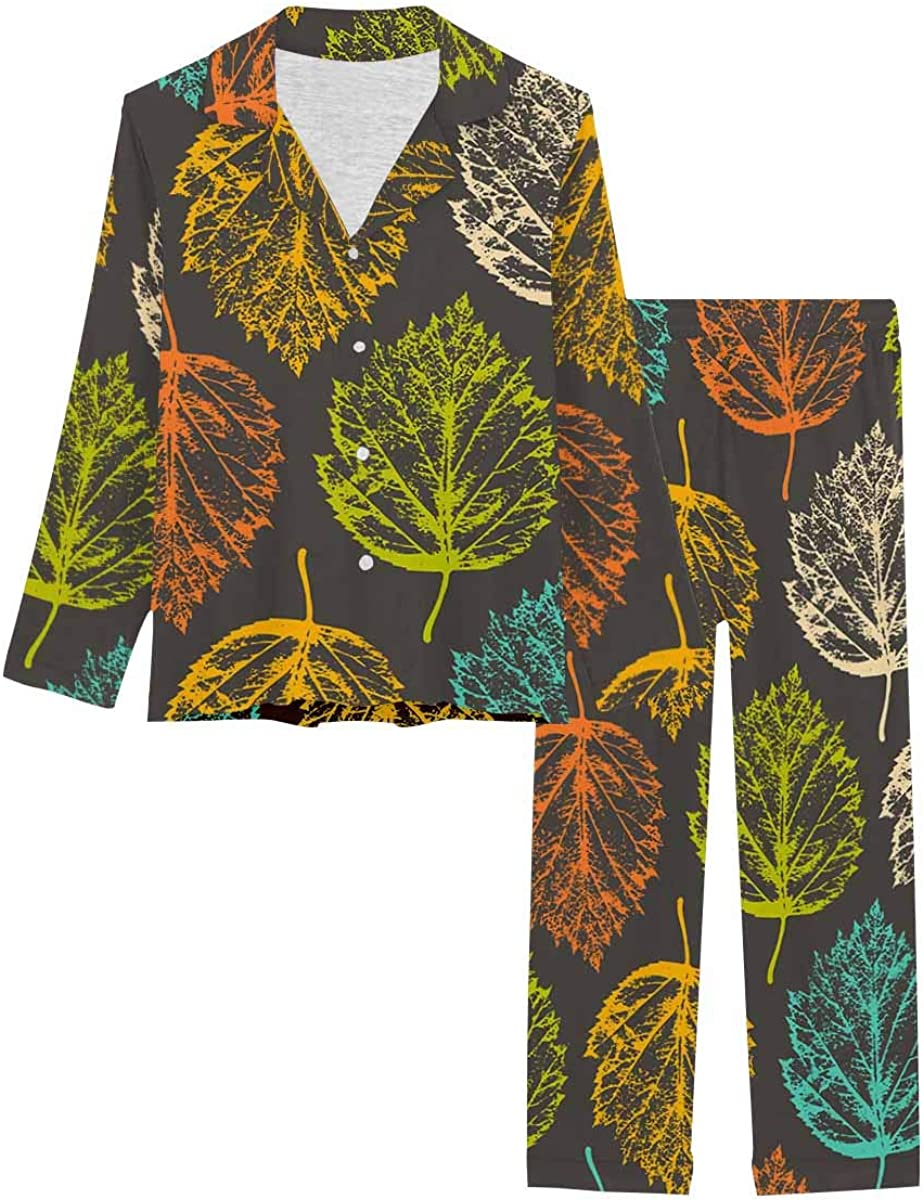 InterestPrint Deluxe Women's Pajamas Set Button Lon with Down Sleepwear Al sold out.