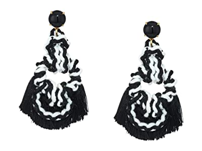 J.Crew Sailors Knot Tassel Earrings (Black) Earring
