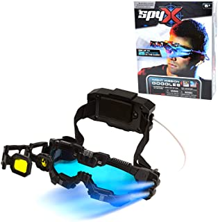 SpyX / Night Mission Goggles – Twin LED Light Beams + Flip Out Scope + Adjustable..
