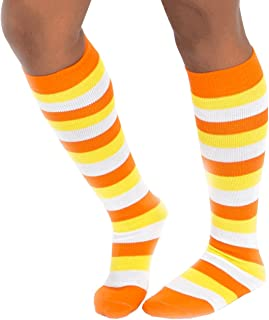 Chrissy's Socks Women's Candy Corn Striped Knee Socks 7-11