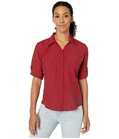 Royal Robbins Expedition Chill Stretch 3/4 Sleeve Top (Rhubarb) Women