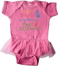 inktastic Flight Attendant Future Infant Tutu Bodysuit