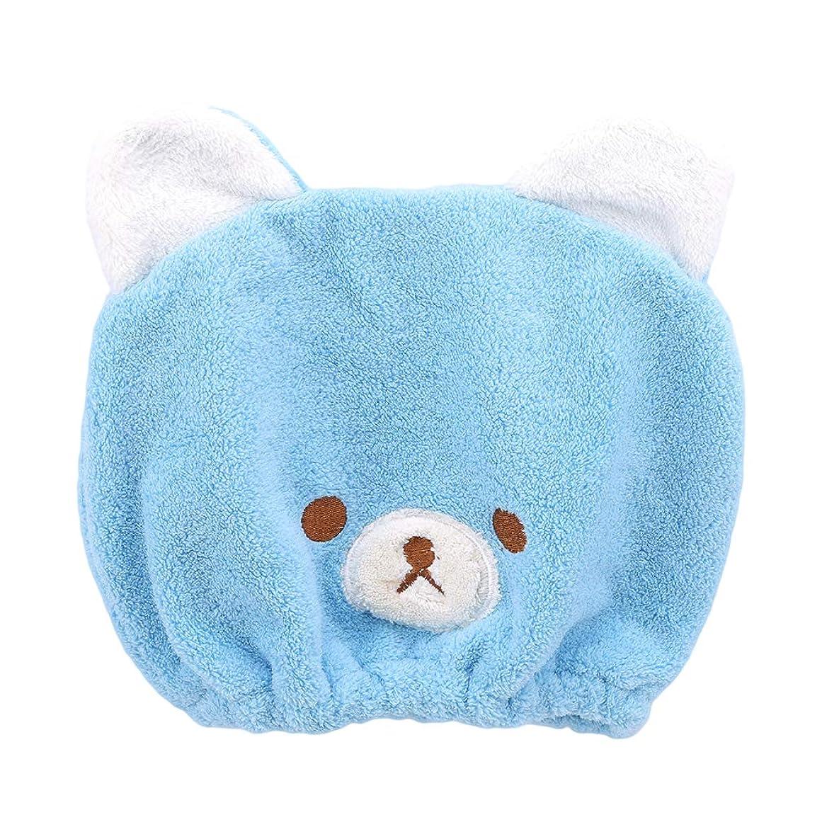 積極的に請負業者回転HKUN タオルキャップ ヘアドライタオル 動物 子供 ドライキャップ ヘアキャップ 吸水タオル 速乾 可愛い お風呂
