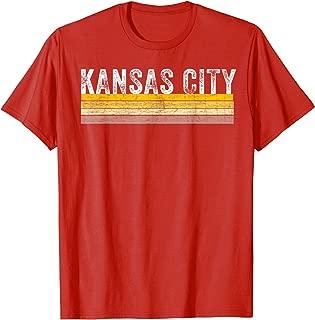 Kansas City Football Retro Stripe KC football Red Kc T-Shirt