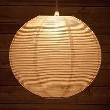 Quasimoon PaperLanternStore.com 24 Inch White Fine Line Premium Even Ribbing Paper Lantern, Extra Sturdy